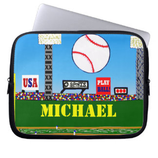 Cute Kids Baseball Sports Laptop or Tablet Case