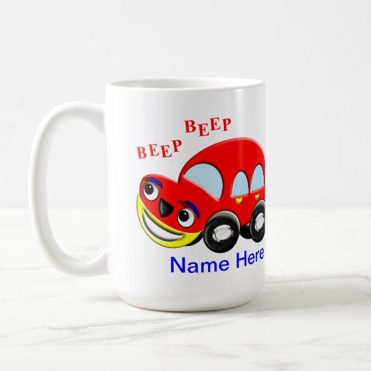 Cute Kids Cartoon Car Beep Beep Coffee Mug