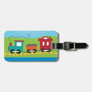 Cute Kid's Choo Choo Train Luggage Tag