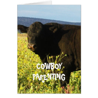 Cute Kids Chores Responsibility - Cowboy Parenting Card