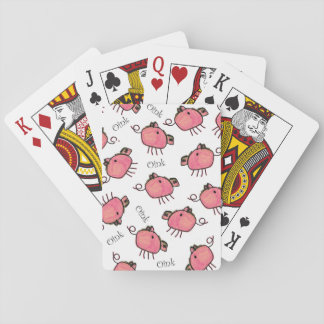 Cute Kid's Crayon Pigs Playing Cards