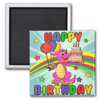Cute Kids dinosaur birthday Magnet