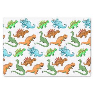 Cute Kids Dinosaurs Illustrations Tissue Paper
