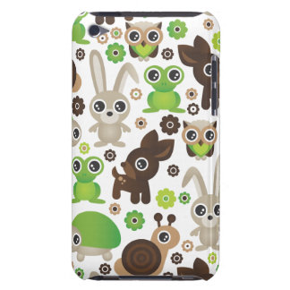 Cute kids frog turtle deer bunny and owl pattern Case-Mate iPod touch case