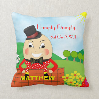 Cute Kids Nursery Rhyme Humpty Dumpty Personalized Throw Pillow