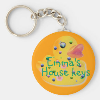 Cute Kids Personalize House Key Chain Keychain