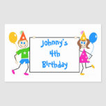 Cute Kids Personalized Birthday Party Favour Seal
