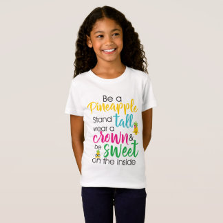 Cute kids pineapple word art t-shirt