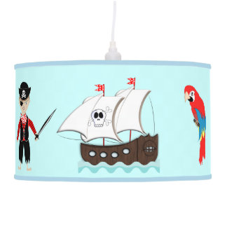 Cute Kids Pirate Themed Graphic Pendant Lamp