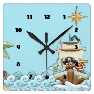 cute kids pirate Wall Clock