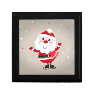 Cute kids santa red gift box