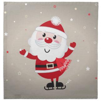 Cute kids santa red napkin