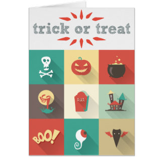 Cute Kids Skull Monster Boo Halloween Card