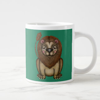 Cute King of the Beasts Lion Large Coffee Mug