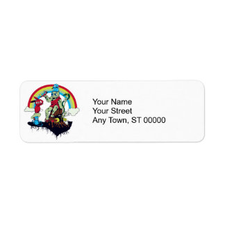 cute king of the friendly monsters vector cartoon return address label