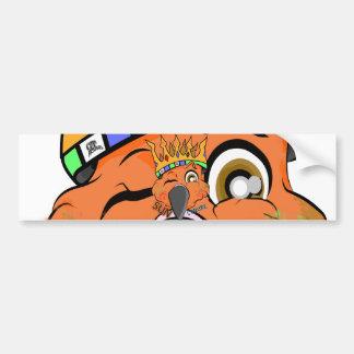Cute King Sun Conure Parrot Wink Bumper Sticker