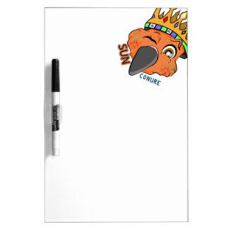Cute King Sun Conure Parrot Wink Dry Erase White Board