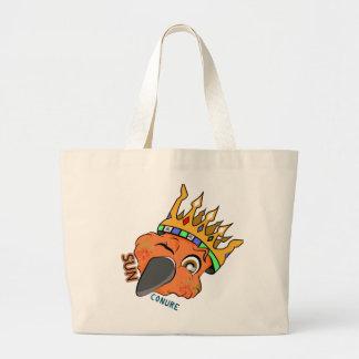 Cute King Sun Conure Parrot Wink Large Tote Bag