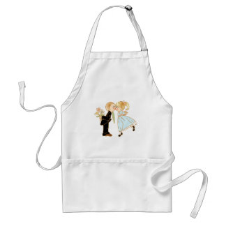 Cute Kissing Couple Wedding Reception Standard Apron