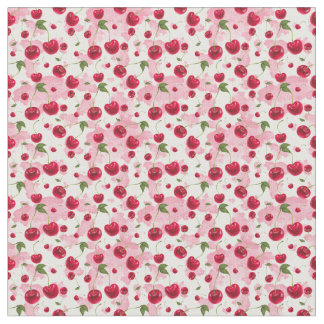 Cute kitchen cherries pattern decor material fabric