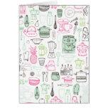 Cute kitchen retro doodle card