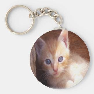 Cute Kitten Art Basic Round Button Keychain