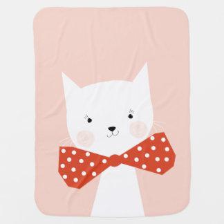 Cute Kitten Cat Baby Girl Nursery Blanket Decor
