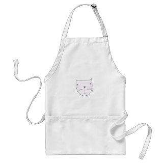 Cute kitten design on white standard apron