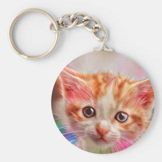 Cute Kitten Face Keychain