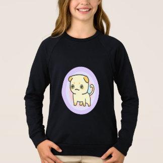 Cute Kitten Girls' Apparel Raglan Sweatshirt