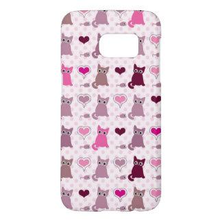 Cute kitten girls pattern samsung galaxy s7 case
