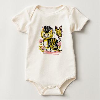 Cute Kitten Graphics Baby  Girl's Shirt