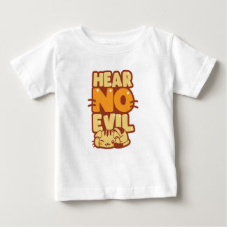 "Cute Kitten ""Hear No Evil"" Baby T-Shirt"