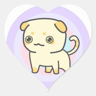 Cute Kitten Heart Sticker