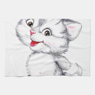 Cute kitten kitchen towel