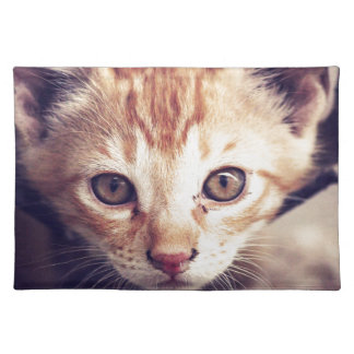 Cute Kitten looking at YOU Place Mat