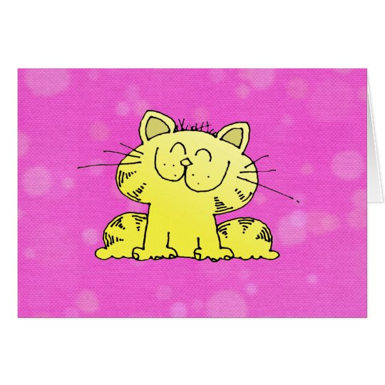 Cute Kitten Pink Room Card