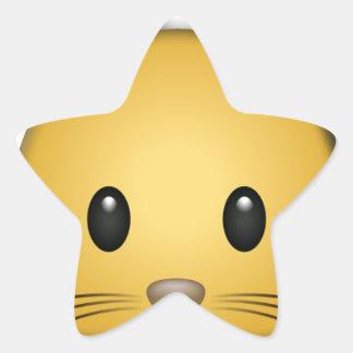 Cute Kitten Star Sticker