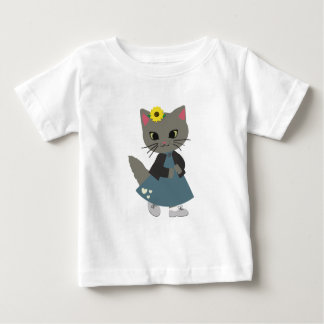 Cute Kitten with Pumpkins Halloween Clothing Baby T-Shirt