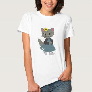 Cute Kitten with Pumpkins Halloween Clothing T-shirts