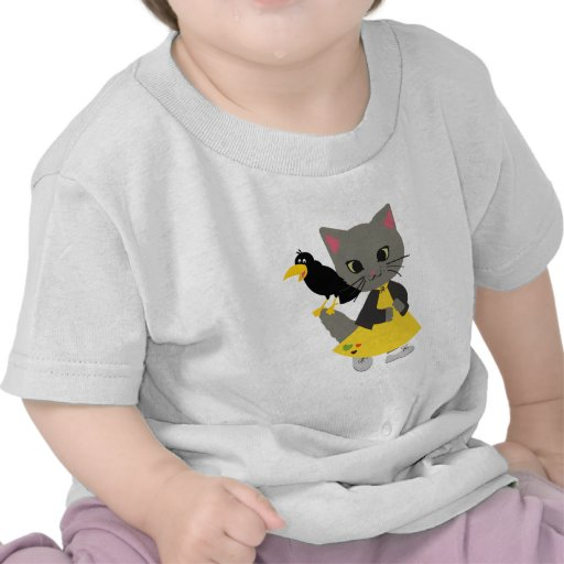 Cute Kitten with Pumpkins Halloween Clothing Shirts