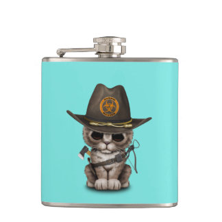 Cute Kitten Zombie Hunter Hip Flask