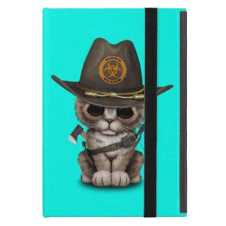 Cute Kitten Zombie Hunter iPad Mini Cover