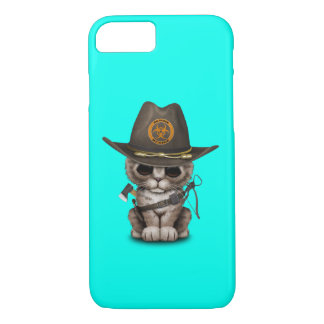 Cute Kitten Zombie Hunter iPhone 8/7 Case