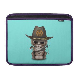 Cute Kitten Zombie Hunter MacBook Sleeve