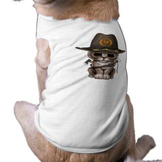 Cute Kitten Zombie Hunter Shirt