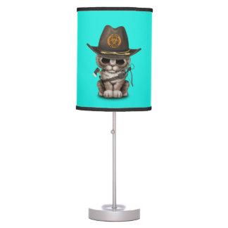 Cute Kitten Zombie Hunter Table Lamp