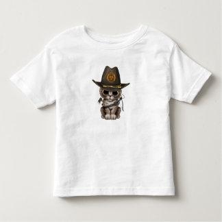 Cute Kitten Zombie Hunter Toddler T-shirt