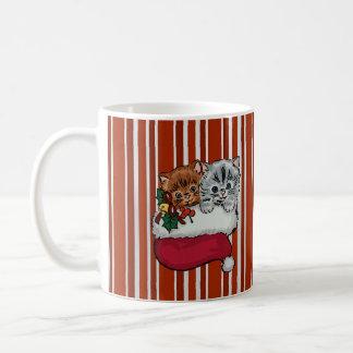 Cute Kittens in a Christmas Stocking Coffee Mug