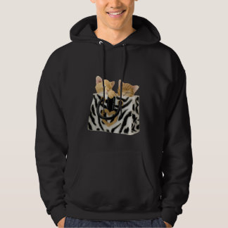 Cute Kittens in Zebra Print Handbag Hoodie